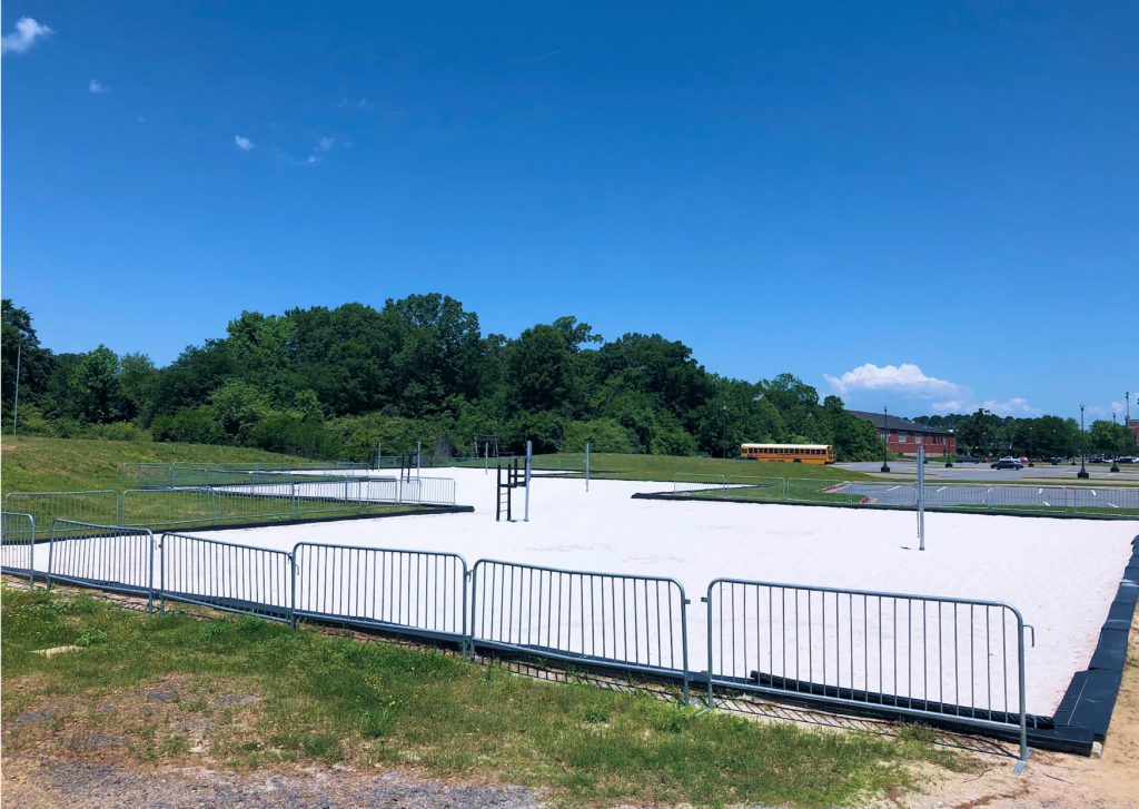 school sand volleyball facility