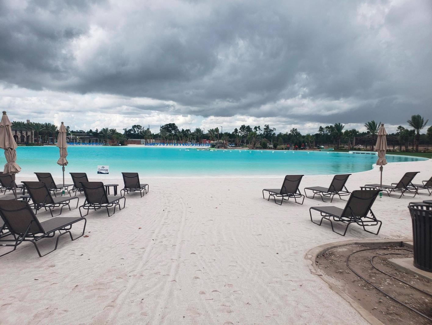 crystal lagoon beach in texas