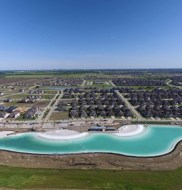 bird's-eye view of windsong ranch beach
