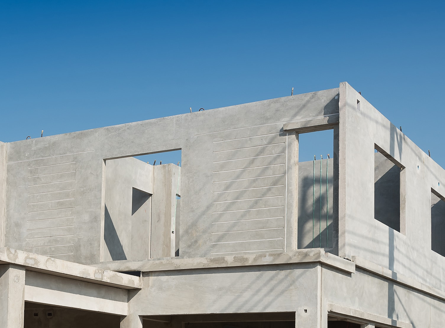 home built of architectural precast concrete