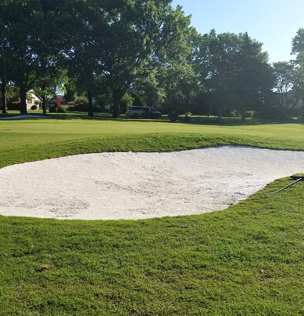 bunker using premier white sand