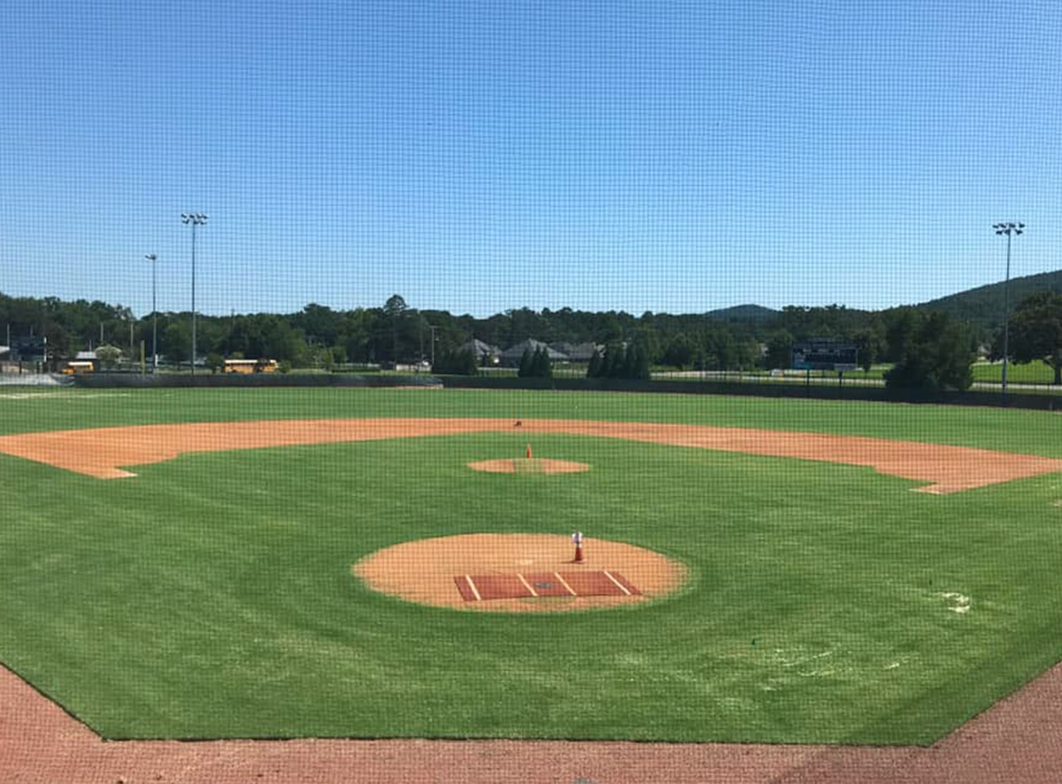 baseball field at little rock christian academy