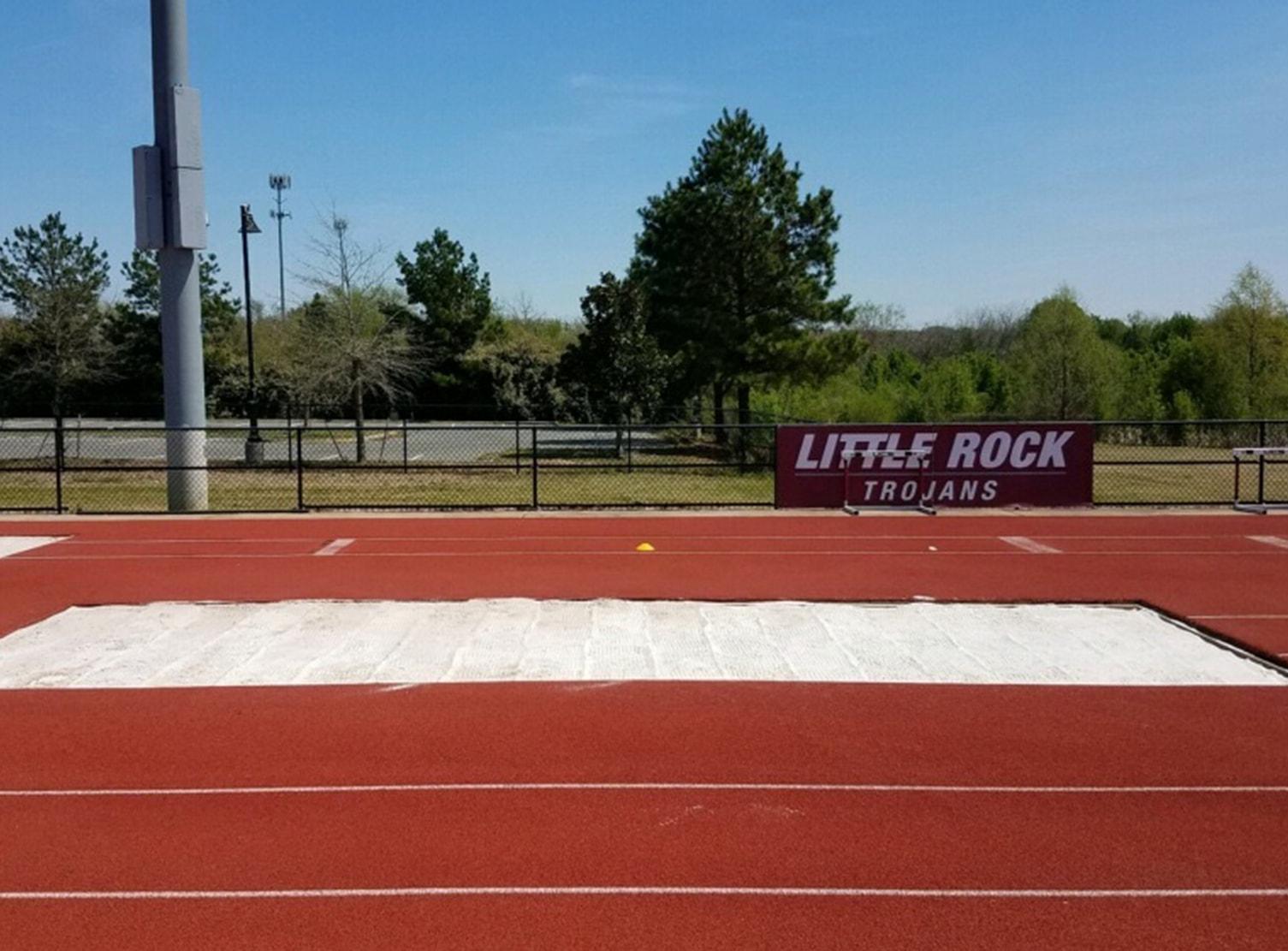 little rock trojans long jump sand pit