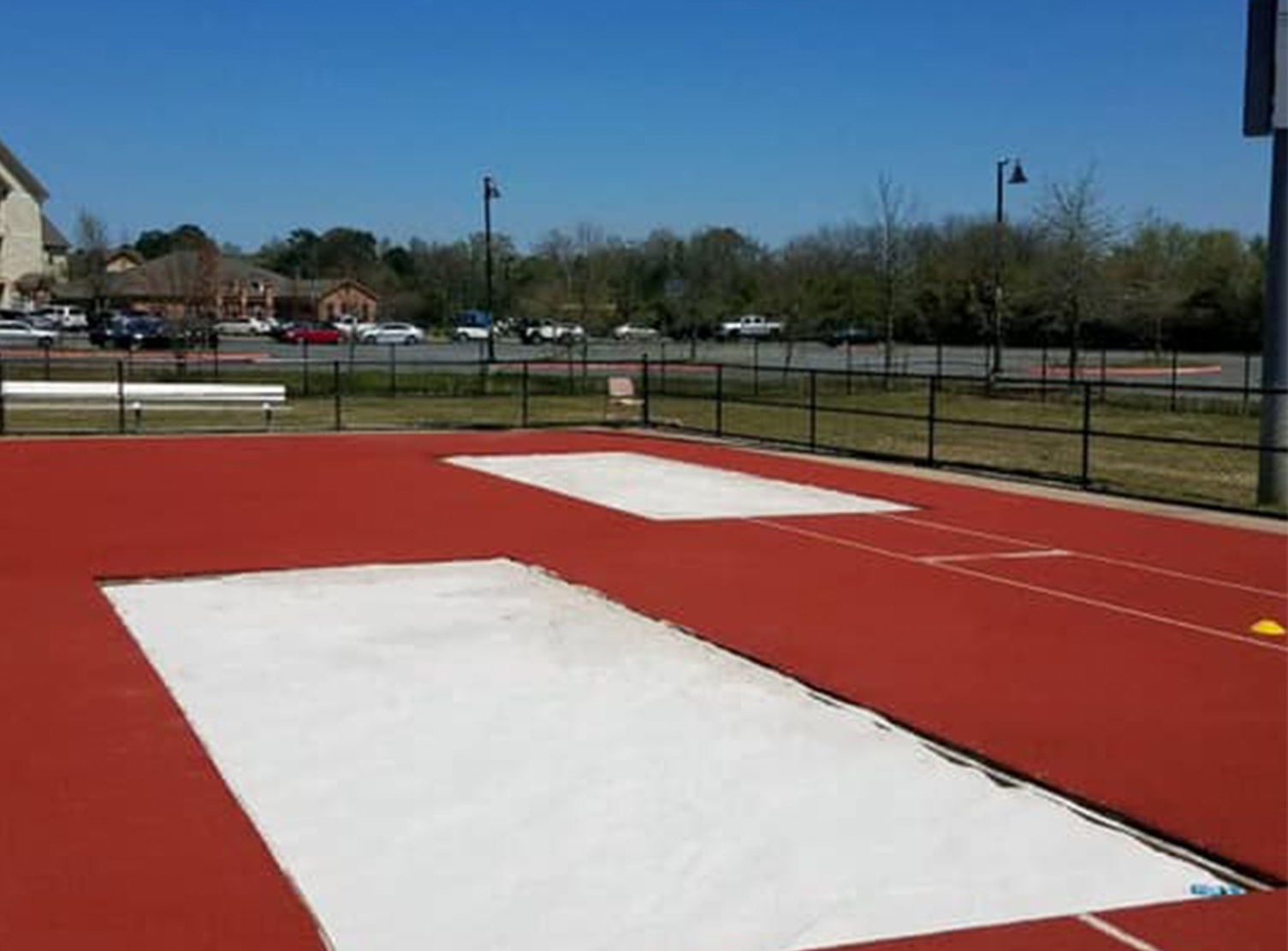 two long jump pits