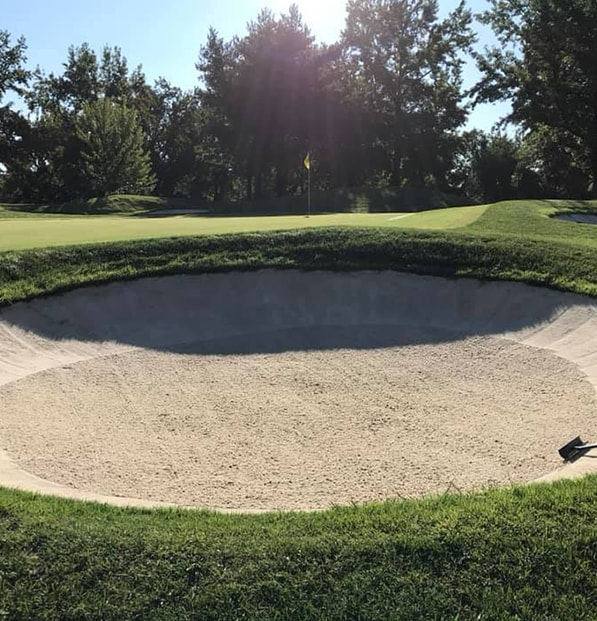 premier play sand beautifully raked in sand trap
