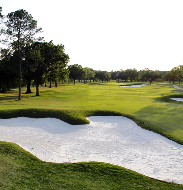 bunkers with fresh premier white sand