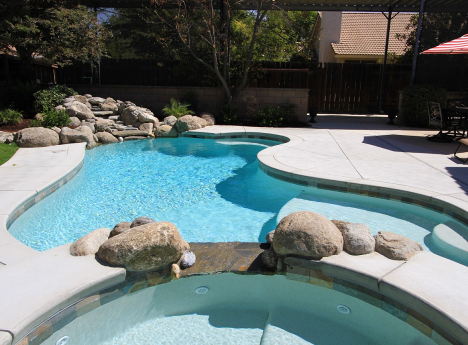 textured pebble pool liner
