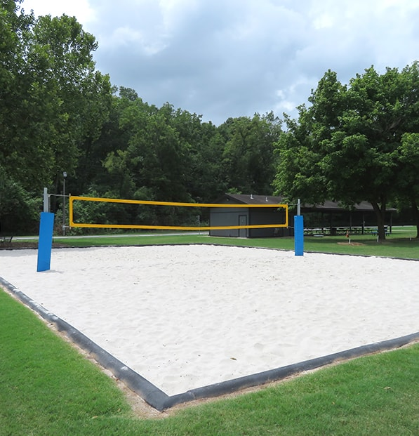 volleyball court in park with prospike sand