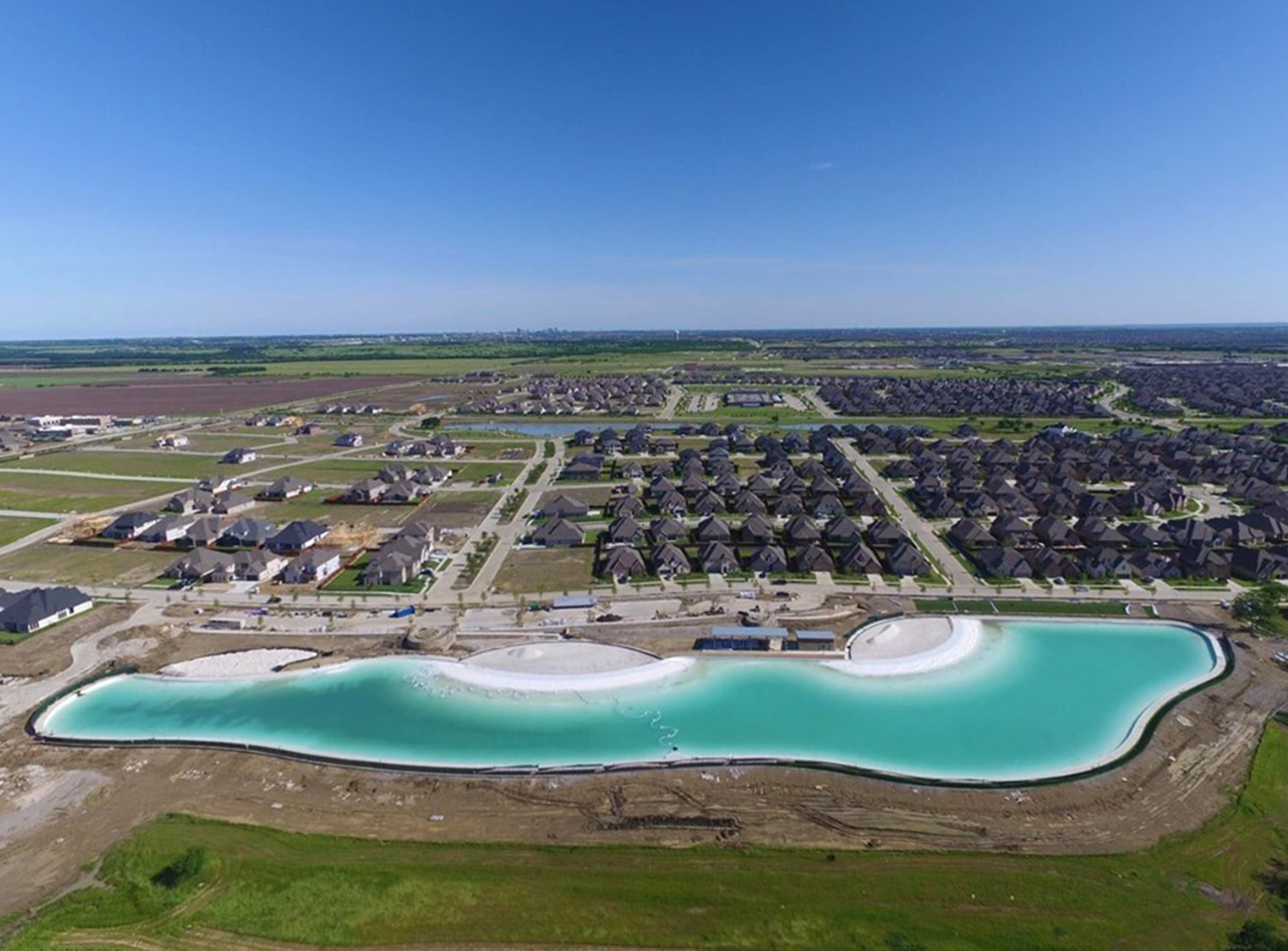 aerial view of windsong ranch crystal lagoon