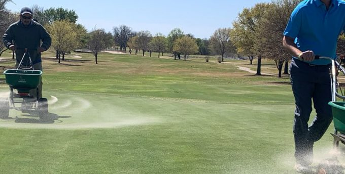premier sand top dressing at Wichita Falls Country Club